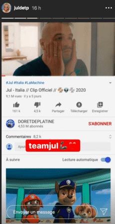 """JuL: le clip """"Italia"""" passe la barre des 9 millions de vues sur Youtube !"""