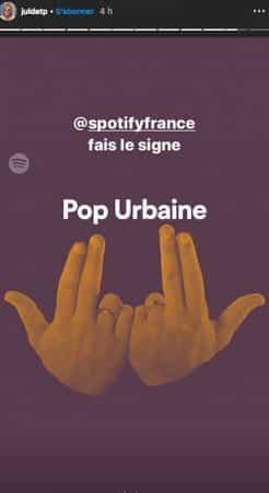 JuL: même Spotify et Deezer adoptent son célèbre signe !