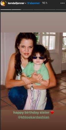 Kendall Jenner dévoile une photo adorable d'elle enfant avec Khloé !