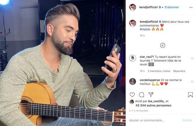 """Kendji Girac remercie ses fans après le succès de son single """"Habibi"""" !"""