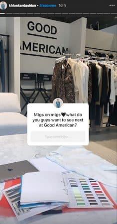Khloé Kardashian travaille sur la nouvelle collection Good American !