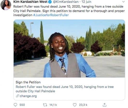 Kim Kardashian veut une enquête après la mort par pendaison de Robert Fuller !