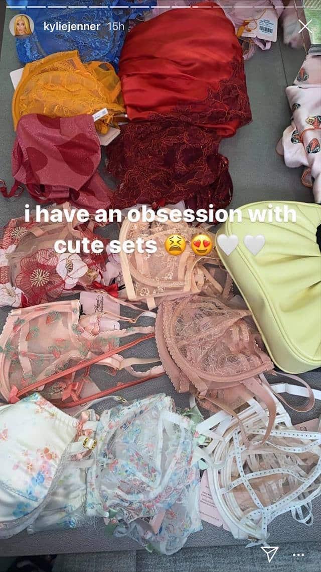 Kylie Jenner dévoile son énorme collection de sous-vêtements !
