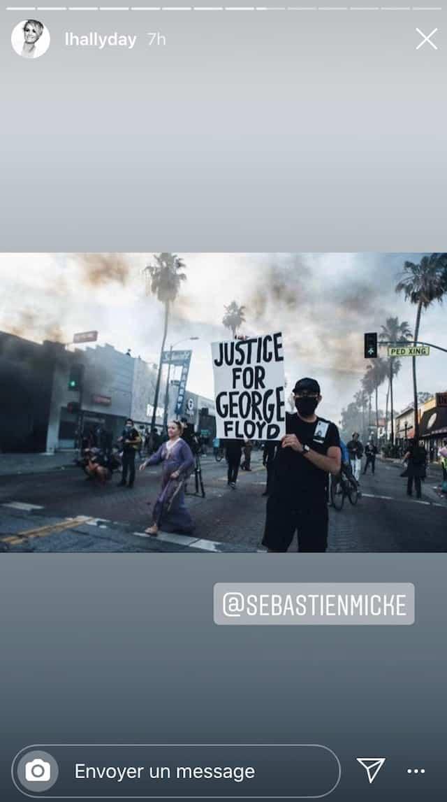 Laeticia Hallyday bouleversée par les manifestations à Los Angeles !