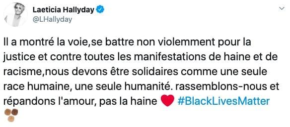 """Laeticia Hallyday s'exprime face au racisme """"répandons l'amour"""" !"""