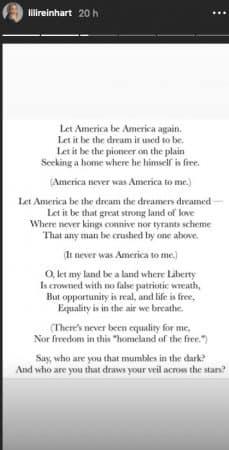 Lili Reinhart souhaite que l'Amérique retrouve sa grandeur d'antan !