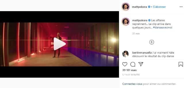 M Pokora annonce la sortie prochaine du clip #danseavecmoi !