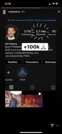 M Pokora explose son nombre de fans sur Instagram 640