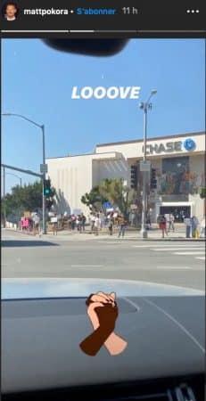M Pokora soutient les rassemblements Black Lives Matter à Los Angeles !
