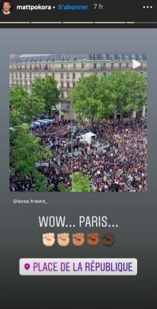 M Pokora touché par la manifestation contre le racisme à Paris !
