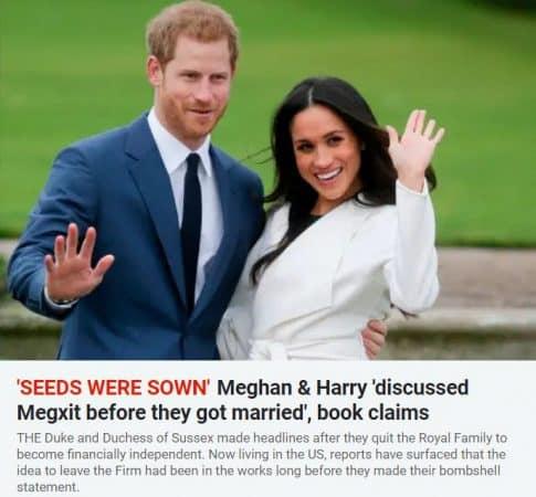 Meghan Markle et Harry : le megxit prévu avant même leur mariage ?