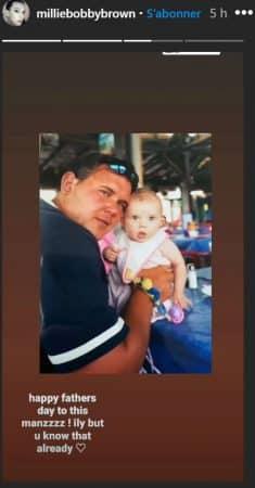 Millie Bobby Brown et son père sur Instagram