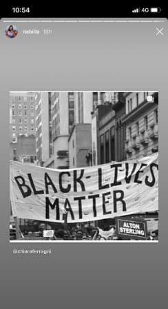 """Nabilla apporte son soutien au mouvement """"Black Lives Matter"""" !"""