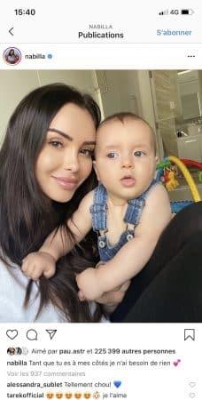 Nabilla pose avec son petit Milann et fait fondre la Toile !