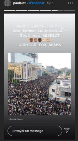 Paola Locatelli présente à la manifestation en soutien à Adama Traoré !