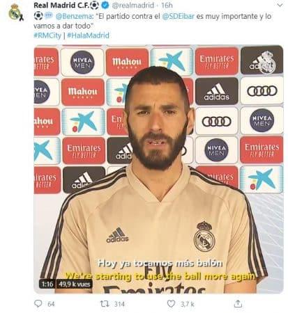 Real Madrid Karim Benzema très motivé par la reprise !