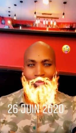Rohff met le feu à sa barbe en direct sur Instagram !