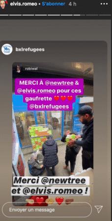 Roméo Elvis le frère d'Angèle vient en aide aux réfugiés à Bruxelles 05062020-