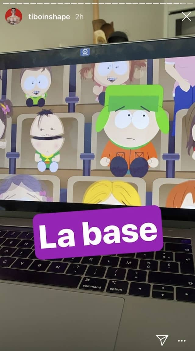 Tibo InShape est complètement fan de South Park !