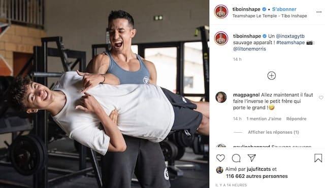 Tibo InShape pose avec le youtuber Inoxtag et c'est hilarant !