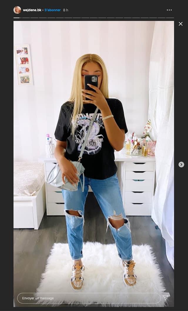 Wejdene: sa tenue tendance fait l'unanimité sur Instagram !
