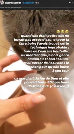 Agathe Auproux: son adorable attention pour son petit chat !
