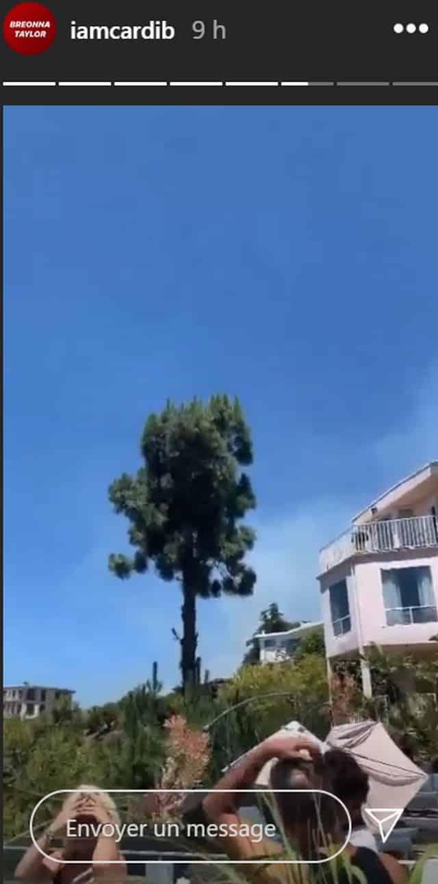 Cardi B en panique à cause d'un immense incendie près de chez elle !