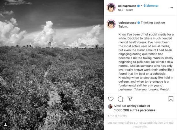 Cole Sprouse décide de se retirer des réseaux sociaux 640