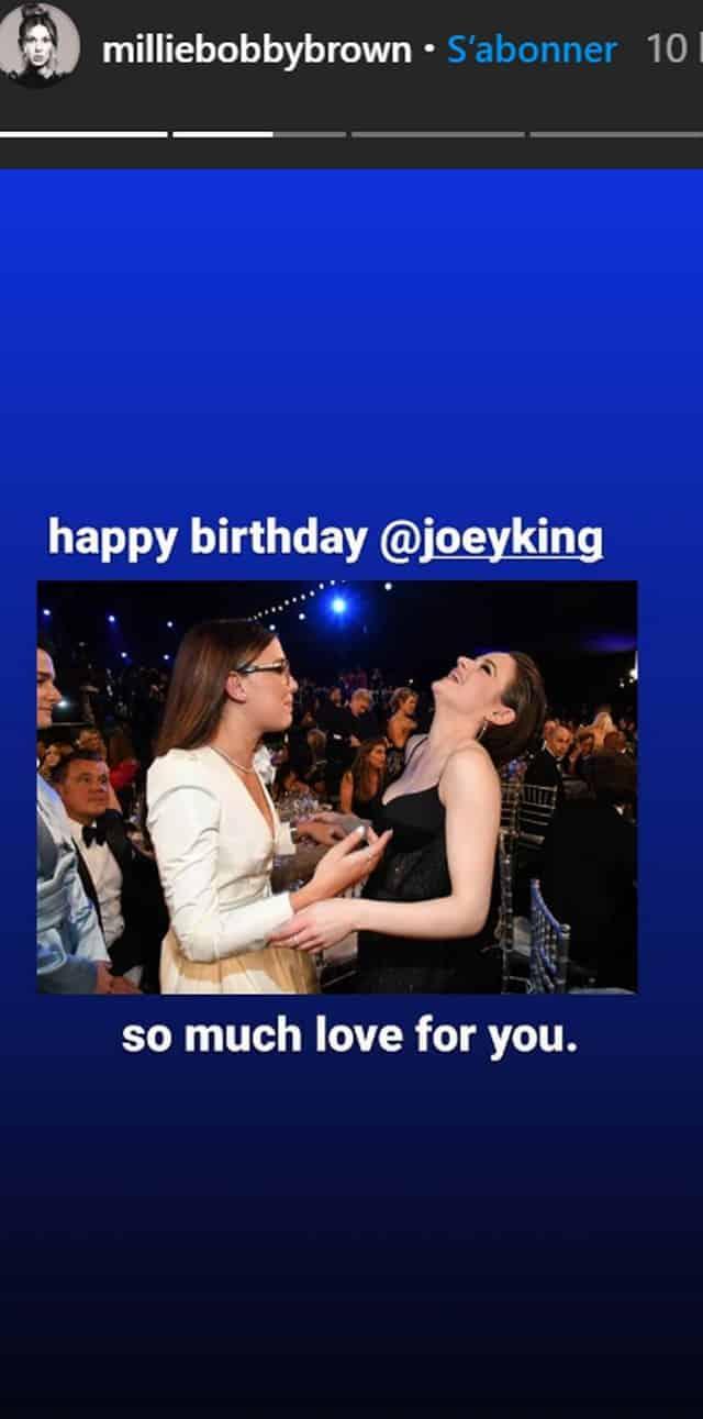 Millie Bobby Brown célèbre l'anniversaire de son amie Joey King !