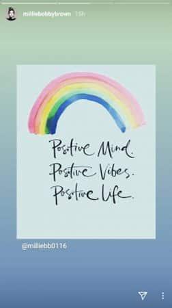 Millie Bobby Brown reste toujours optimiste et le prouve sur Instagram !