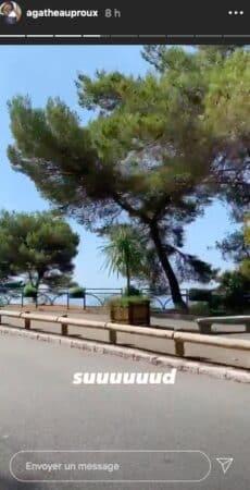 Agathe Auproux prolonge ses vacances dans le Sud de la France !