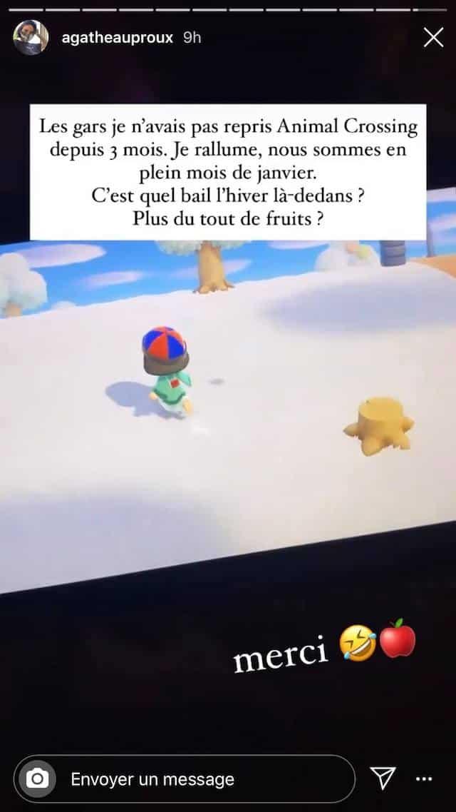 Agathe Auproux se remet enfin à jouer à Animal Crossing !