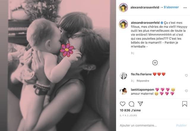 Alexandra Rosenfeld dévoile ses deux petites filles sur Instagram !