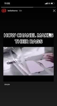 Bella Thorne est passionnée par la conception des sacs Chanel !