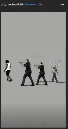 Booba dénonce les violences policières et le racisme avec un dessin !