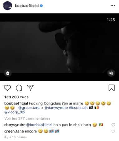 Booba impressionné par le nouveau son de Green Montana sur Instagram !