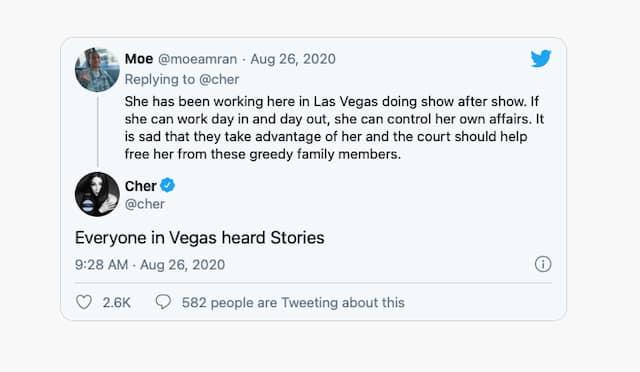 """Britney Spears: Cher réagit au mouvement """"Free Britney"""" sur Twitter !"""