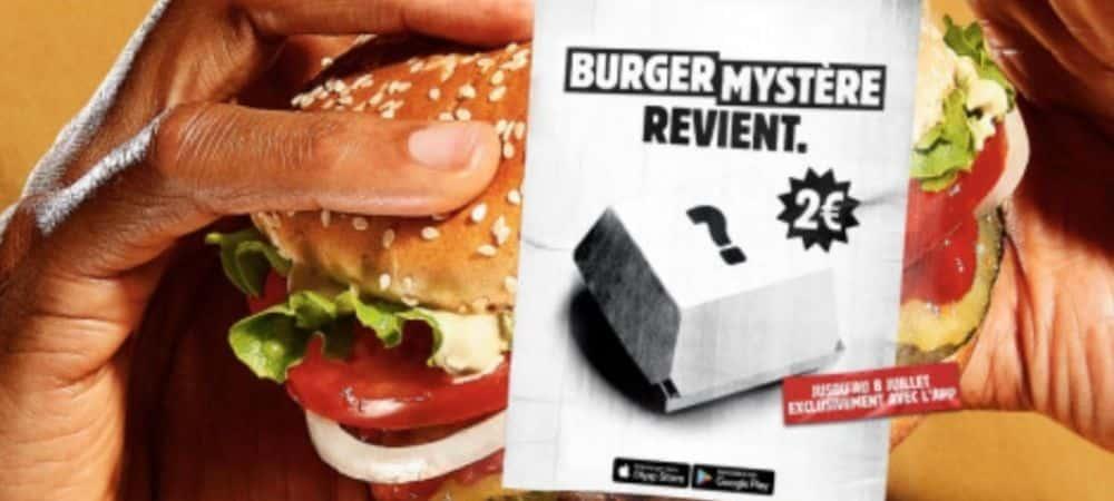 Burger King lance un nouveau burger à petit prix !