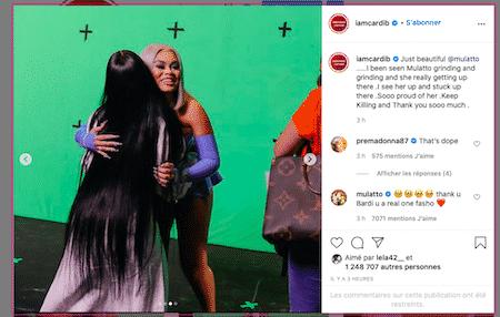 Cardi B dévoile les coulisses sexy de son dernier clip sur Instagram