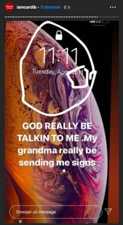 Cardi B reçoit des messages de l'au-delà de la part de sa grand-mère !