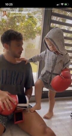 Caroline Receveur: Marlon apprend à boxer avec son papa !