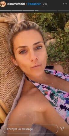 Clara Morgane prend le soleil et dévoile un joli décolleté sur Instagram !