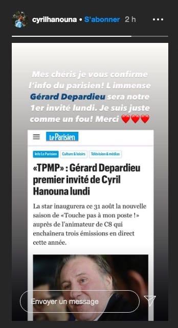 Cyril Hanouna annonce le premier invité exceptionnel de TPMP !
