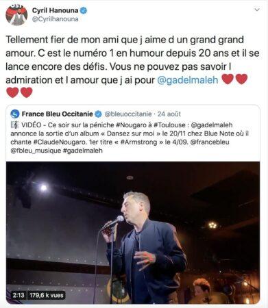 """Cyril Hanouna très fier de la carrière de Gad Elmaleh """"il se lance encore des défis"""" !"""