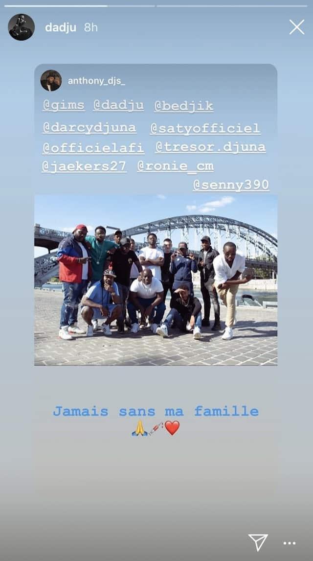 Dadju s'affiche entouré de sa famille sur Instagram !