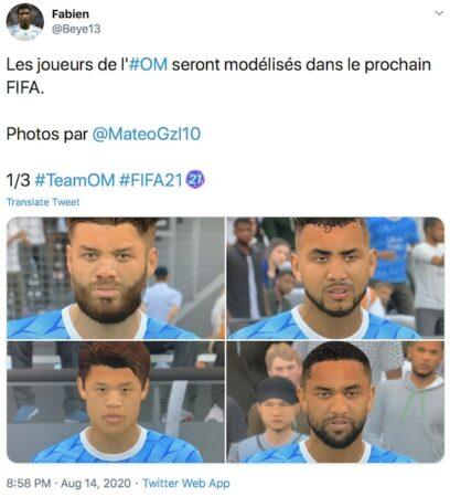 FIFA 21: les modélisations des joueurs de l'OM sont dévoilées !