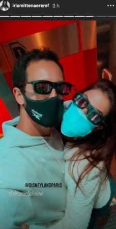 Iris Mittenaere s'affiche masquée avec Diego lors d'une journée à Disneyland !