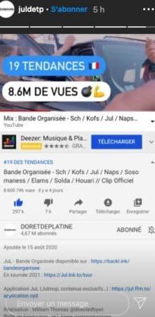 """Jul bat un nouveau record avec son clip """"Bande Organisée"""" sur Youtube !"""