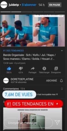 """JuL cartonne en Suisse et en France avec son titre """"Bande organisée"""" !"""