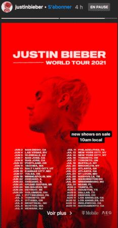 Justin Bieber prépare son retour sur scène et une tournée événement 06082020